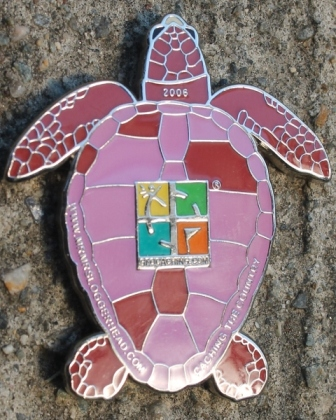 Photo of a geocoin turtle
